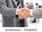 handshake isolated in office   Shutterstock . vector #74186542