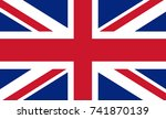 great britain vector flag.... | Shutterstock .eps vector #741870139