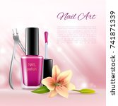 beauty cosmetic ads images of... | Shutterstock .eps vector #741871339