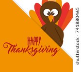 happy thanksgiving day card | Shutterstock .eps vector #741880465