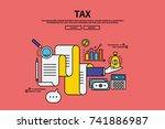 vintage retro color style flat... | Shutterstock .eps vector #741886987