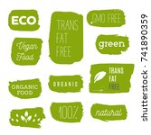 healthy food icons  labels.... | Shutterstock .eps vector #741890359