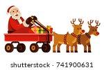 merry christmas  santa claus...   Shutterstock .eps vector #741900631