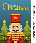 merry christmas nutcracker... | Shutterstock .eps vector #741900637