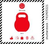kettlebell icon | Shutterstock .eps vector #741905221