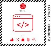code editor icon | Shutterstock .eps vector #741907951