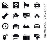 16 vector icon set   crisis ...   Shutterstock .eps vector #741917827
