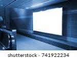 blank advertising billboard or...   Shutterstock . vector #741922234