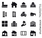 16 vector icon set   mansion ... | Shutterstock .eps vector #741922711