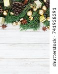 christmas decoration on the... | Shutterstock . vector #741928291