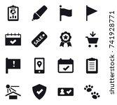 16 vector icon set   report ... | Shutterstock .eps vector #741928771