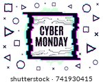cyber monday vector banner... | Shutterstock .eps vector #741930415