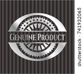 genuine product silver badge or ... | Shutterstock .eps vector #741932065