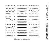 hand drawn doodle line set... | Shutterstock .eps vector #741932374