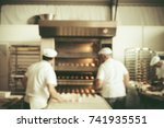 blurred bakery shop in... | Shutterstock . vector #741935551