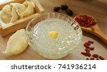 Edible bird's nest soup in a...