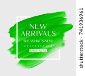 new arrivals sale text over art ... | Shutterstock .eps vector #741936961