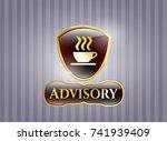 golden emblem or badge with... | Shutterstock .eps vector #741939409
