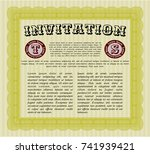 yellow retro invitation. with... | Shutterstock .eps vector #741939421