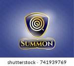 shiny emblem with target ... | Shutterstock .eps vector #741939769
