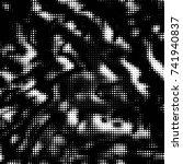 abstract grunge grid polka dot... | Shutterstock .eps vector #741940837