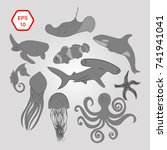 marine fauna | Shutterstock .eps vector #741941041
