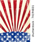 american flag a distressed... | Shutterstock .eps vector #74194831