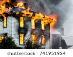 A House On Fire And Burning...