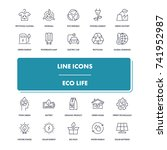 line icons set. eco life pack....