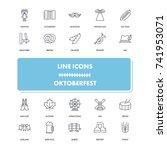 line icons set. octoberfest...