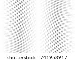 abstract halftone wave dotted... | Shutterstock .eps vector #741953917