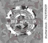 20th anniversary on grey... | Shutterstock .eps vector #741959059
