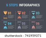 6 steps infographics with... | Shutterstock .eps vector #741959371