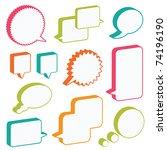 bright 3d speech bubbles ready... | Shutterstock .eps vector #74196190
