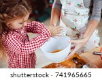 merry christmas and happy... | Shutterstock . vector #741965665