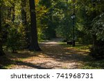 alley in a park | Shutterstock . vector #741968731