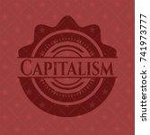 capitalism red emblem. retro | Shutterstock .eps vector #741973777