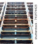 """Small photo of Palletrack is a material handling storage aid system designed to store materials onpallets(or """"skids"""")."""