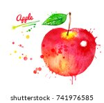 watercolor illustration of... | Shutterstock . vector #741976585