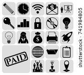 set of 22 business icons  high... | Shutterstock .eps vector #741984805