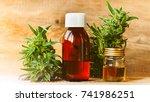 cbd oil hemp products | Shutterstock . vector #741986251