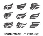 set of different vector wings
