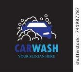 auto washing logo vector.... | Shutterstock .eps vector #741987787