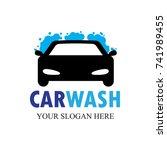 car wash logo   clean car vector   Shutterstock .eps vector #741989455