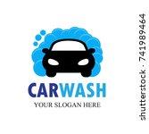 car wash logo template design...   Shutterstock .eps vector #741989464