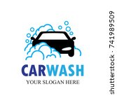 auto washing logo vector.... | Shutterstock .eps vector #741989509