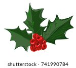 christmas decoration  hand... | Shutterstock .eps vector #741990784
