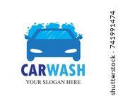 car wash logo   clean car vector   Shutterstock .eps vector #741991474