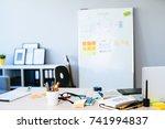 web designer desk  | Shutterstock . vector #741994837