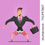 businessman without pants in... | Shutterstock .eps vector #741997807